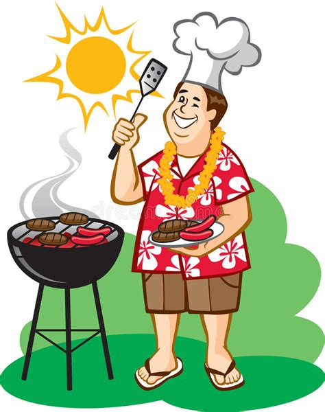 Dad's Barbecue (BBQ) stock vector. Image of cheerful ...