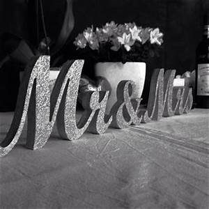 mr and mrs wedding signs glitter mr from sunfla on etsy With mr and mrs letters for wedding