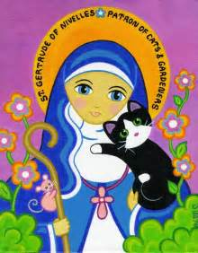 patron of cats 17 best images about patron of cats st gertrude of