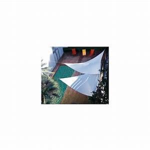 Voile D Ombrage Triangulaire 5m : voile d 39 ombrage triangulaire 5 m en polyester chocolat ~ Dailycaller-alerts.com Idées de Décoration