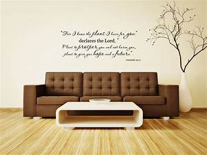 Jeremiah bible verse vinyl wall decal for i know the