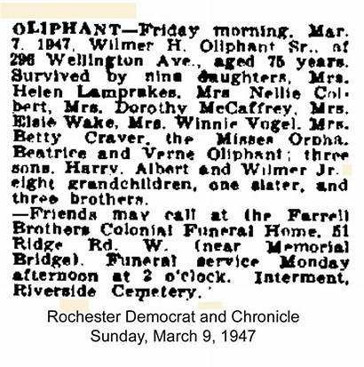 Riverside Cemetery Rochester Oliphant Wilmer 1944 Wounded