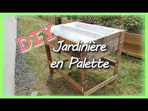 Fabriquer Un Bac Potager Avec Des Palettes : diy un bac avec deux palette pour un petit potager youtube ~ Louise-bijoux.com Idées de Décoration
