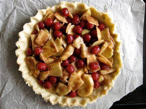 apple cherry pie apple sour cherry pie sweets pinterest