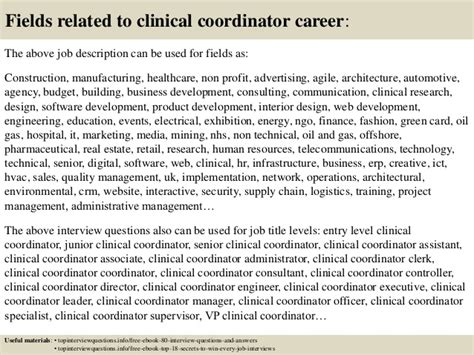 top  clinical coordinator interview questions  answers
