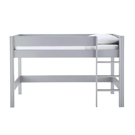 chambre gautier fille lit mezzanine enfant 90 x 190 cm en bois gris tonic