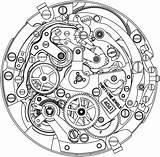 Clock Drawing Luxury Swiss Zenith Watchonista Tattoo Watches sketch template