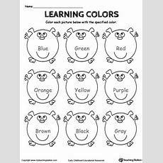 Learning Basic Colors Myteachingstationcom