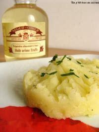 ecras 233 de pommes de terre 224 l huile de truffes recette
