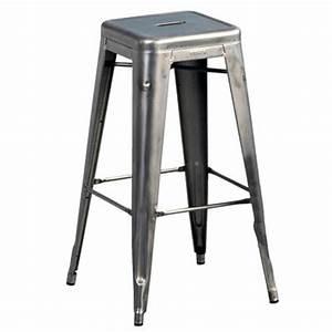 Tabouret De Bar Castorama : tabouret de bar h h 75 cm acier brut pour l ~ Dailycaller-alerts.com Idées de Décoration