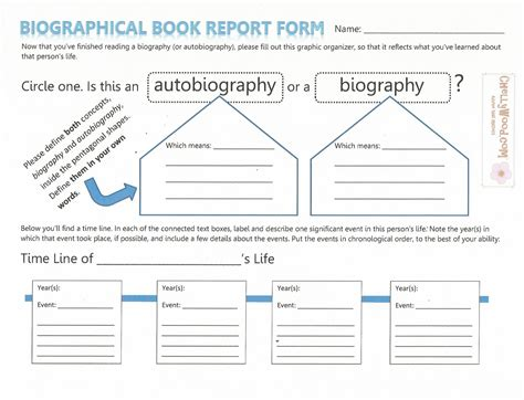 Sle Biography Template For Students by Sle Of Book Report For Elementary 28 Images Free Book