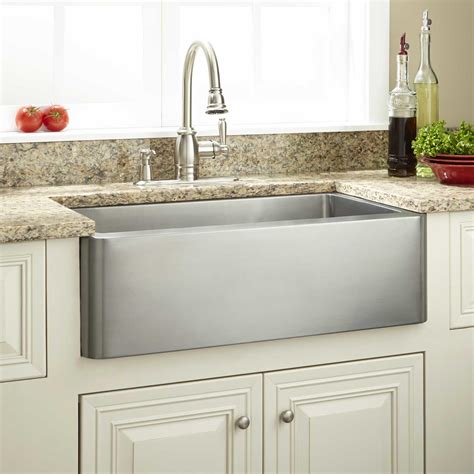 stainless steel farm sink 27 quot hazelton stainless steel farmhouse sink kitchen