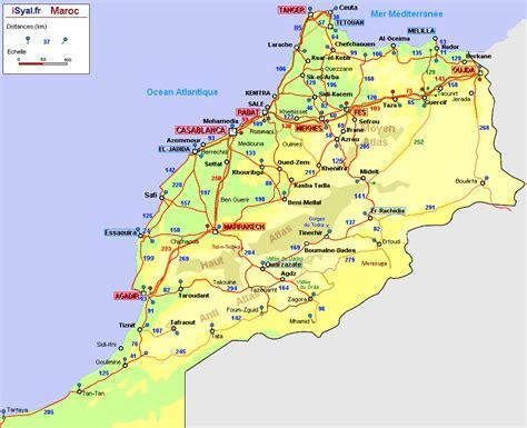 Carte Maroc Avec Villes by Carte Routi 232 Re Du Maroc 2011 Distances Entre Villes