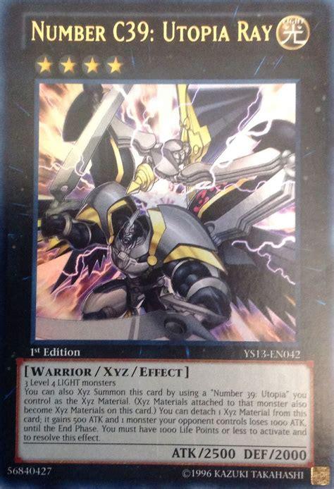 utopia yugioh cards rare ray c39 yu gi oh card 39 zexal xyz number comic yuma trading