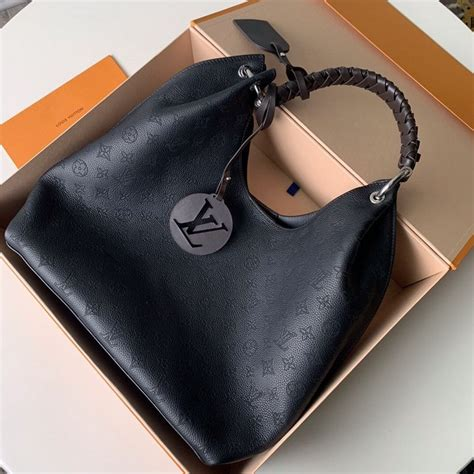 louis vuitton carmel hobo shoulder bag  black  kd