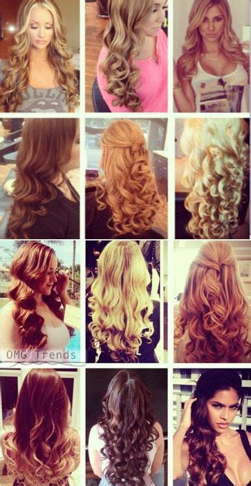 how to curl your hair with different techniques for