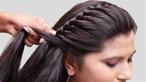 easy braided hairstyles  partywedding side braid