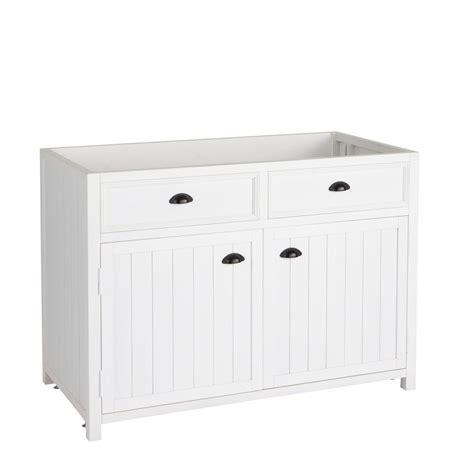 meuble de cuisine 120 cm meuble bas de cuisine en pin blanc l 120 cm newport