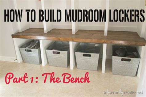 how to build a mudroom bench with cubbies mudroom lockers part 1 bench infarrantly creative