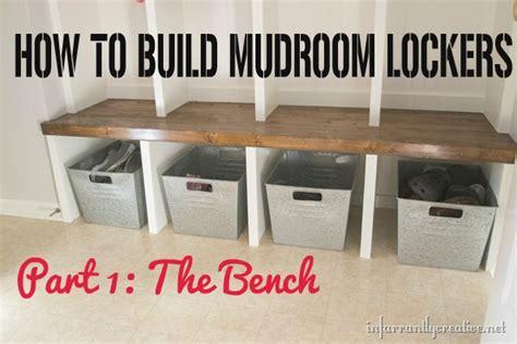 mudroom lockers part  bench