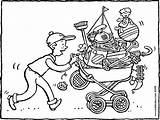 Flea Kiddicolour Rommelmarkt Brocante Market Colouring Flohmarkt Weg Dem Zum Kiddimalseite Vamos Rastro Naar Kiddicoloriage Tekening Template Dessin Drawing Kleurplaat sketch template