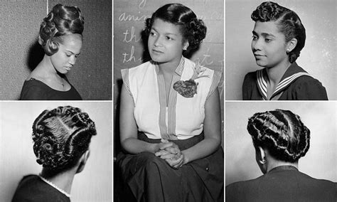 1960s Black Hairstyles by Hairstyles Worn By American In The 40s 50s