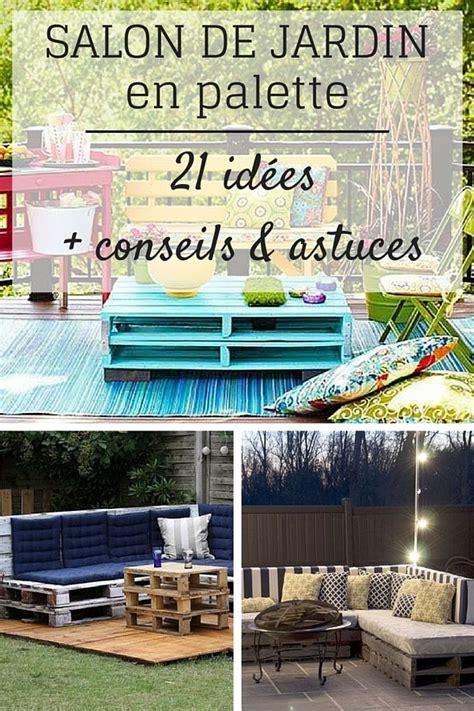 canape exterieur en palette salon de jardin en palette 21 idées à découvrir