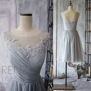 2015 grey bridesmaid dress chiffon cocktail dress a line With gray cocktail dress for wedding