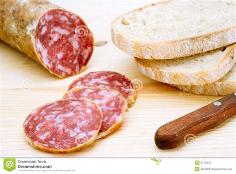 italian salami sliced italian salami royalty free stock photography image 3774347