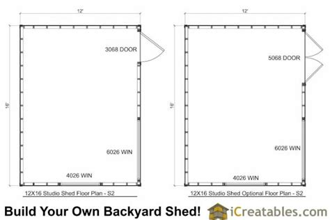 12x16 deck plans and material list learn 12x16 shed concrete floor