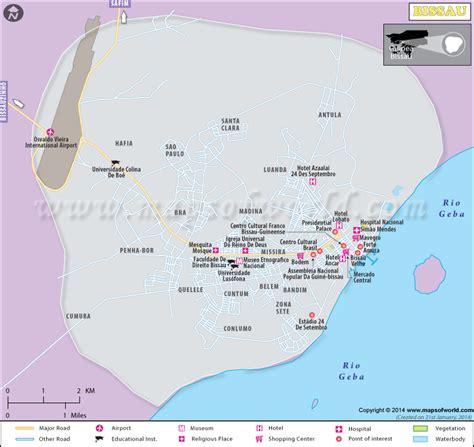 bissau city map map  bissau city guinea bissau