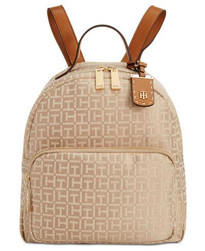 tommy hilfiger julia monogram jacquard dome backpack