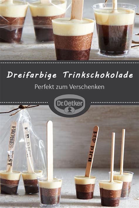 Geschenke Aus Der Kuche Rezepte by Dreifarbige Trinkschokolade Am Stiel Rezept In 2019