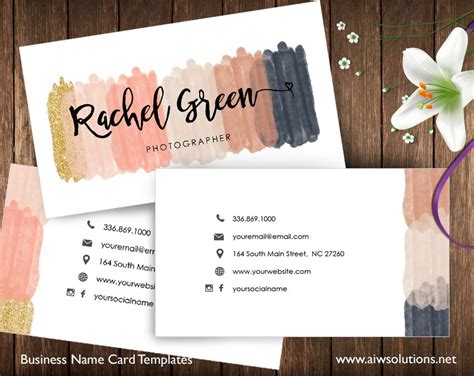 card id business card templates creative market