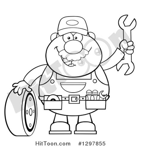 mechanic clipart black and white free mechanic clipart 23