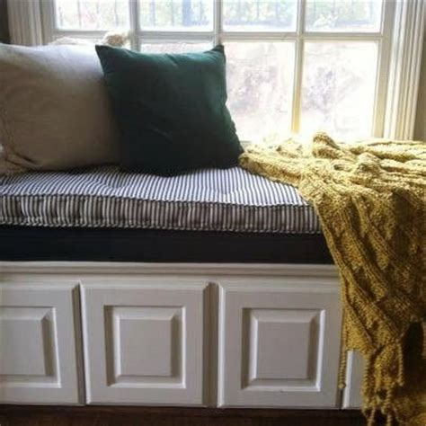 hand  french tufted window seat cushion  hearth