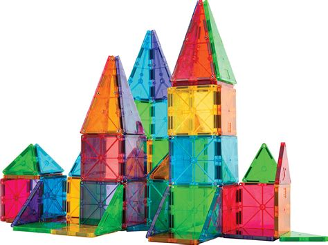 magna tiles clear colors 100 piece set valtech magnatiles