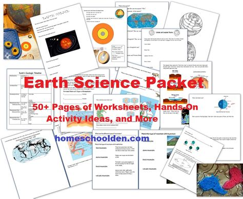 free earth science unit study 50 activities printables free homeschool deals