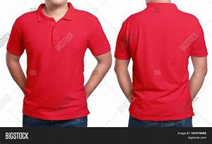 Red Polo T-shirt Mock Front Back Image & Photo | Bigstock