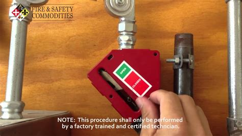 reset  ansul gas valve youtube