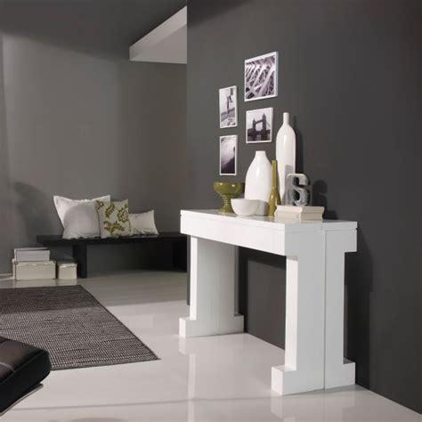 table cuisine extensible table console extensible laquée blanc mobilier