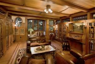 arts and crafts style homes interior design arts crafts style library