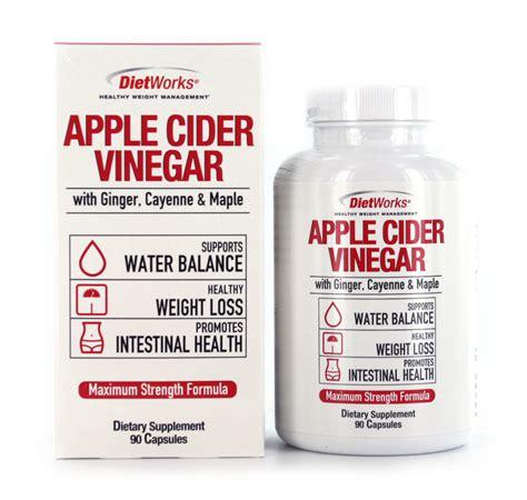 dietworks apple cider vinegar dietary supplement