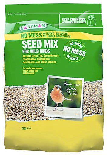 gardman no mess seed mix bird food 2kg at barnitts online