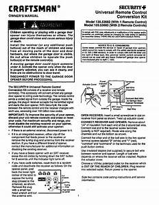 Craftsman Garage Door Opener 139 53683 User Guide