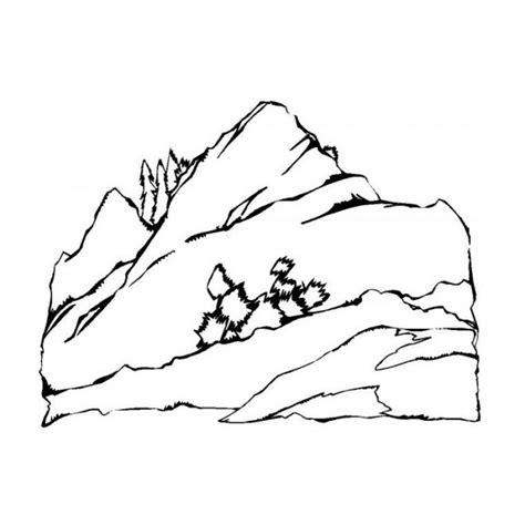 coloriage paysage montagne dessin gratuit 224 imprimer