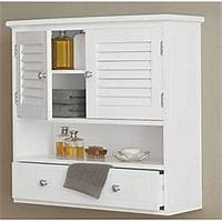bathroom wall cabinet White Wall Cabinet for Bathroom - Home Furniture Design