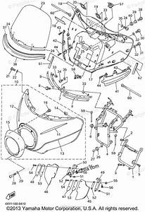 Yamaha Motorcycle 1999 Oem Parts Diagram For Cowling 1