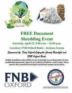 free document shredding event visit oxford ms With who shreds documents for free