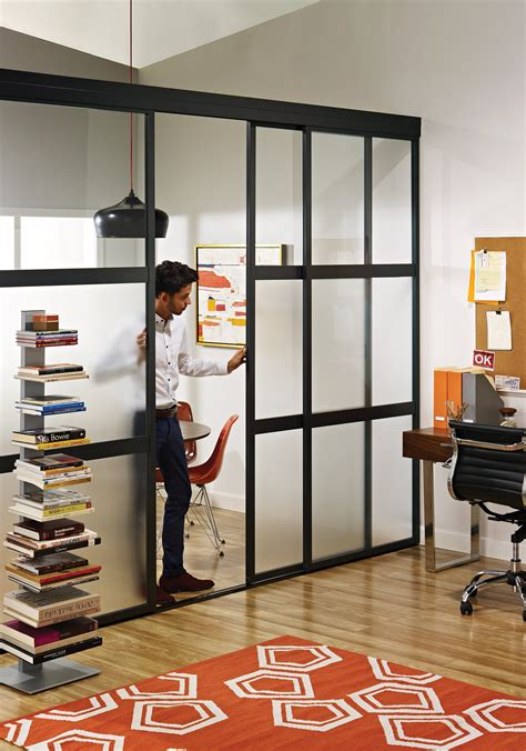 sliding glass room dividers  home office